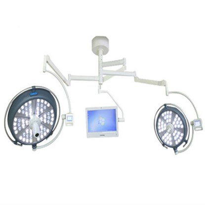 JQ-LED700/700 double head surgical light with camera and monitor system
