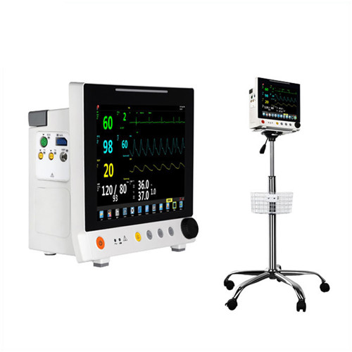 JQ-6307S Medical used 12 inch patient monitor with trolley
