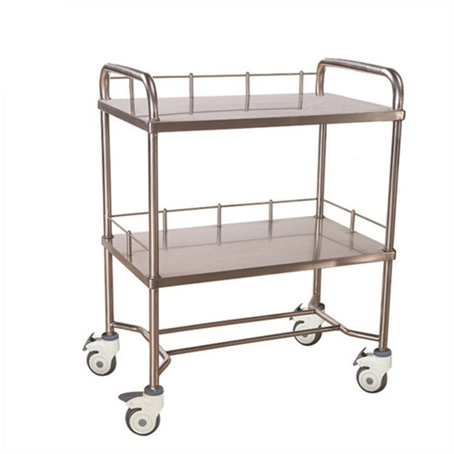 JQ-B13 Stainless steel 2 layers instrument trolley