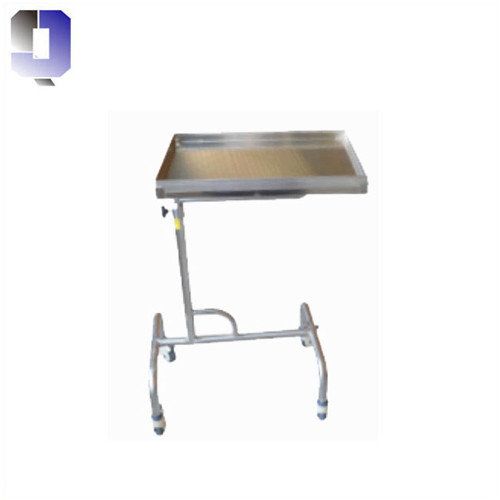 JQ-B35 Medical supply stainless steel square tray support mayo table
