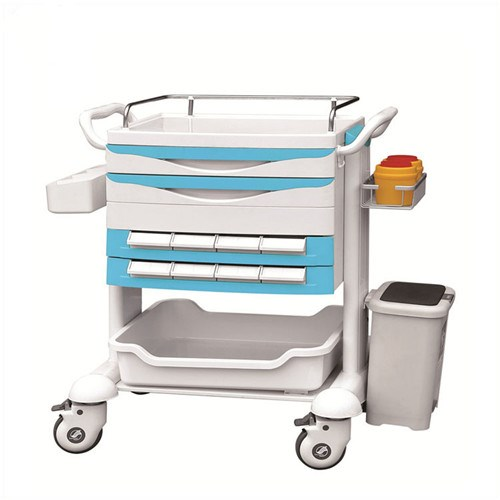 JQ-611B Medical trolley telemedicine cart for inpatient
