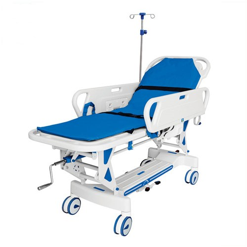 JQ-857 Ward nursing Equipments Medical Ambulance transfer patient trolley