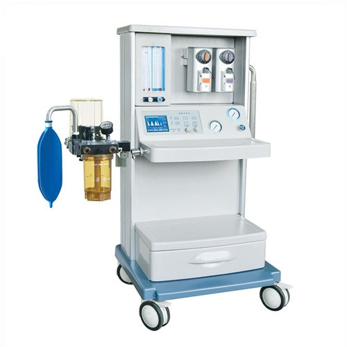double Vaporizers anesthesia machine trolley with one drawer