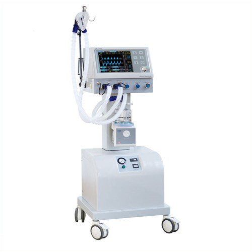JQ-700B 10.4'' LCD display ICU ventilator with air compressor