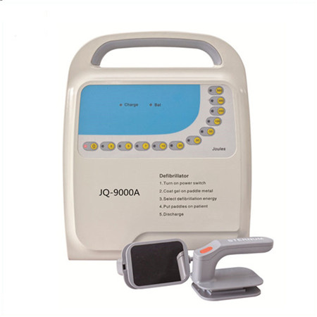 JQ-9000A CE approved handheld Non-synchronizer outlife defibrillator monophasic with pads