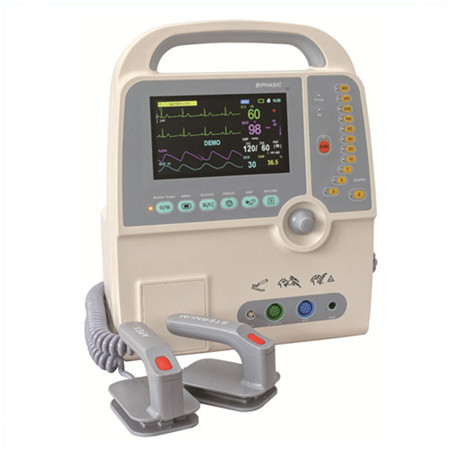 JQ-8000C 7inch medical Monophasic and Biphasic defibrillator monitor with ECG, Pulse, Resp