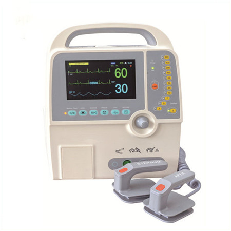 JQ-8000D Easy operated Medical Hospital Equipments Clinical aed Biphasic defibrillator with pads