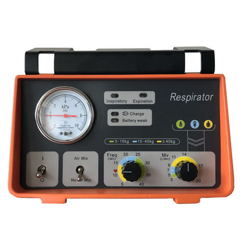 JQ-X10PLUS Multi-functional emergency transport ventilator with Oxygen bottle and battery